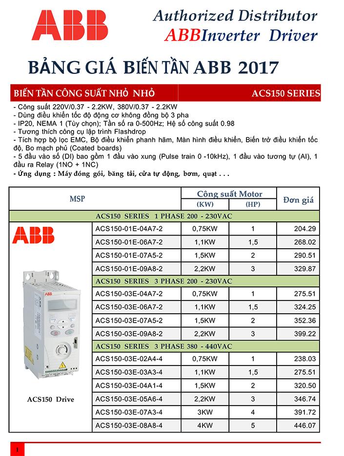 Bảng giá Biến tần ABB