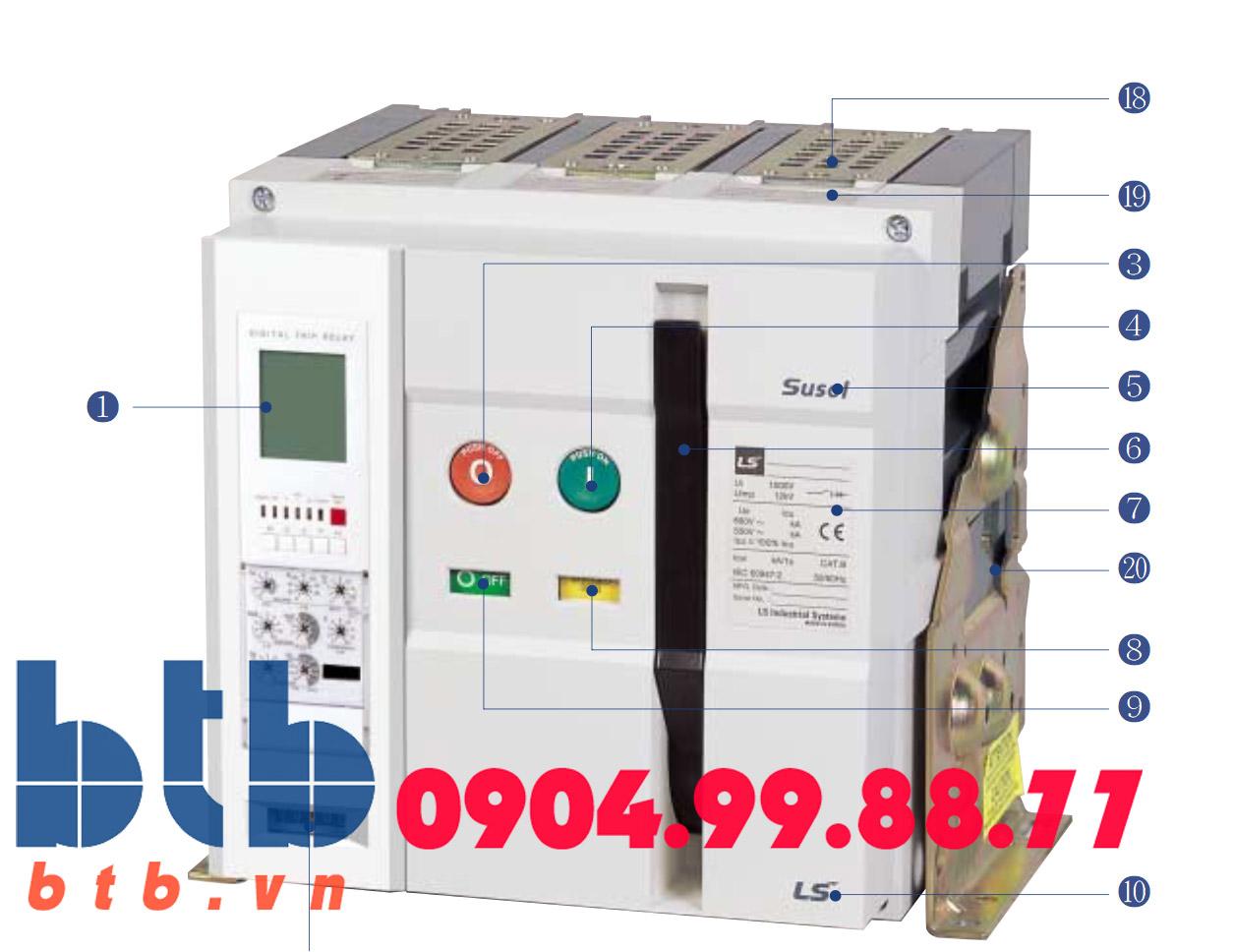 Máy cắt hạ thế -800A -65kA -Fix