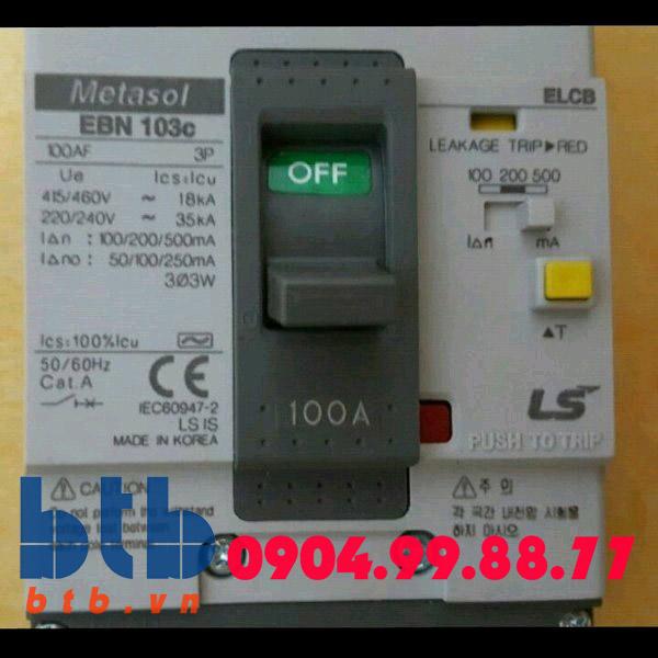 Aptomat chống rò điện -250A -30mA -26kA