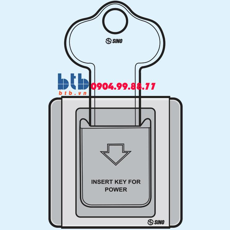 Sino S66G Bộ chìa khóa ngắt điện có đèn báo B