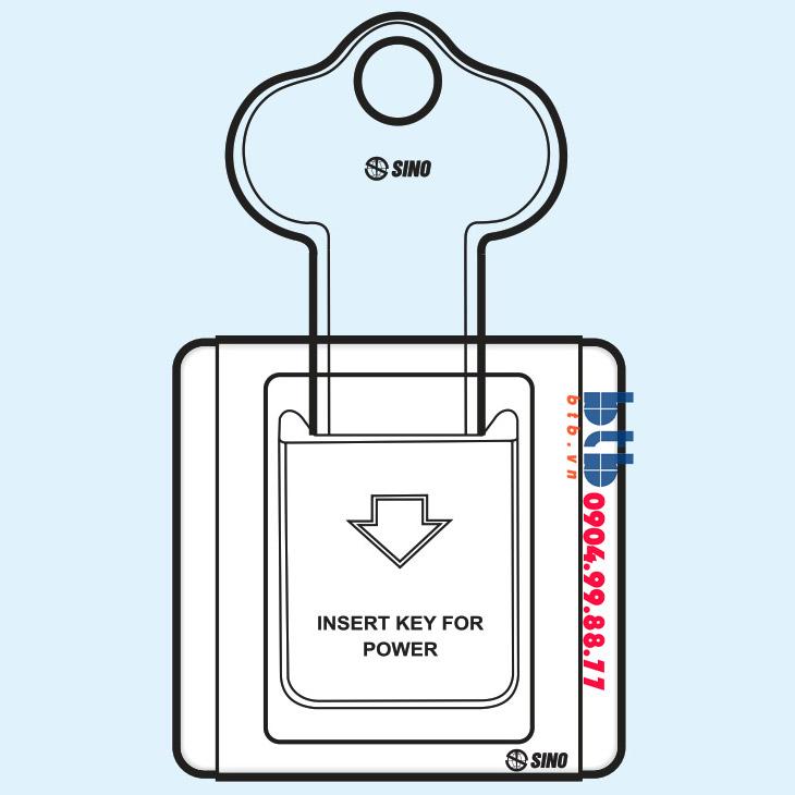 Sino S66E Bộ chìa khóa ngắt điện có đèn báo B