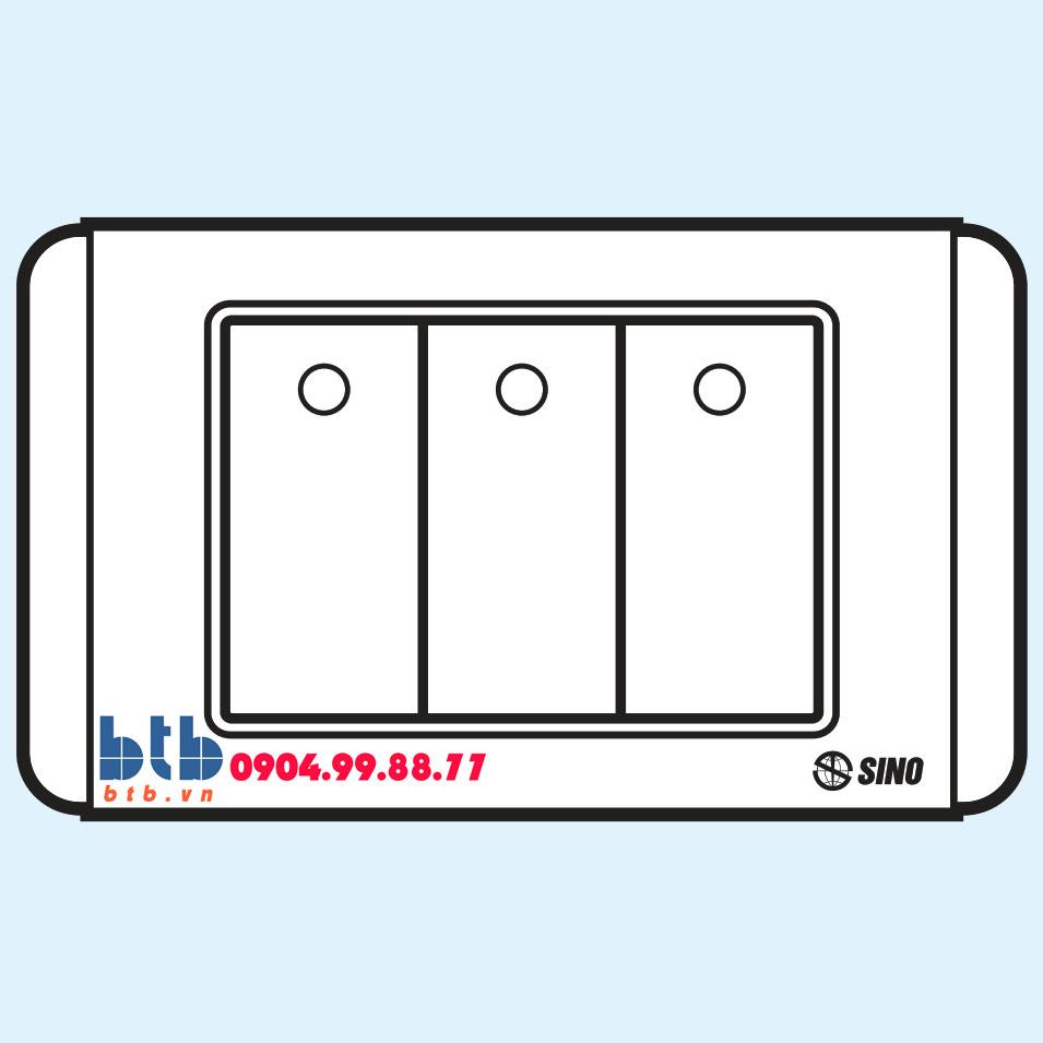 Sino S68D Công tắc ba 1 chiều phím lớn có dạ quang