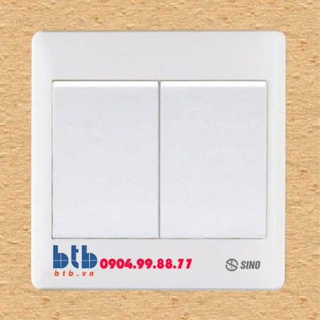 Sino S98 Công tắc đôi 1 chiều phím lớn