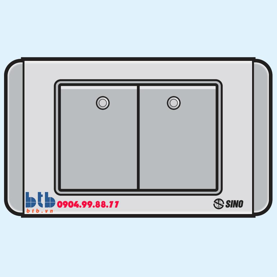 Sino S68GD Công tắc đôi 2 chiều phím lớn có dạ quang