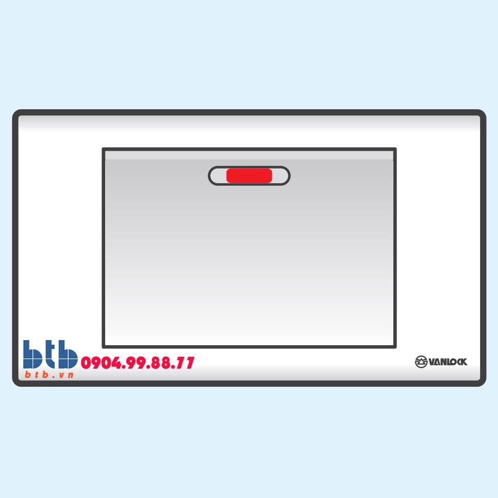 Sino S18 Công tắc đơn 1 chiều phím lớn có đèn báo đỏ