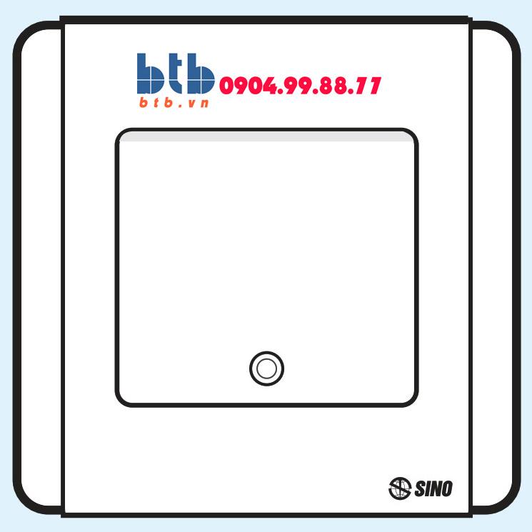 Sino S66SD Công tắc đơn 2 chiều phím lớn có đèn led trắng