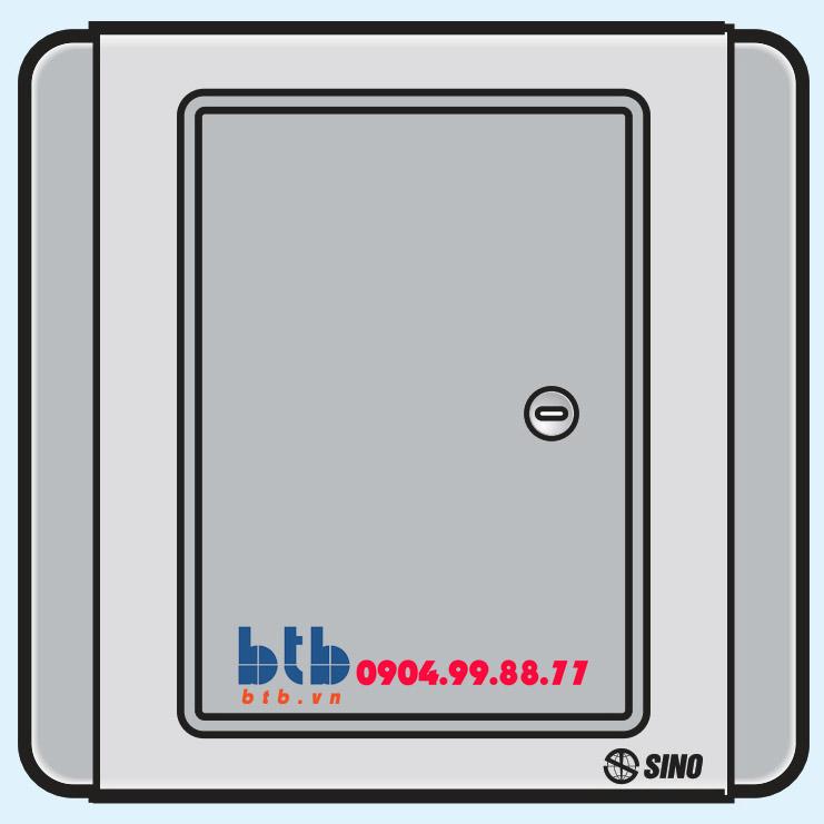 Sino S66DG Công tắc đơn 1 chiều phím lớn có đèn led xanh