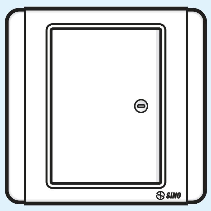 Sino S66D Công tắc đơn 1 chiều phím lớn có đèn led trắng