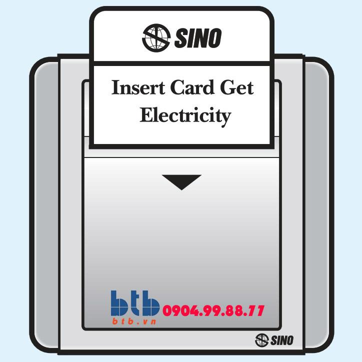 Sino S66G Công tắc dùng thẻ từ phím lớn 16A có thời gian chậm