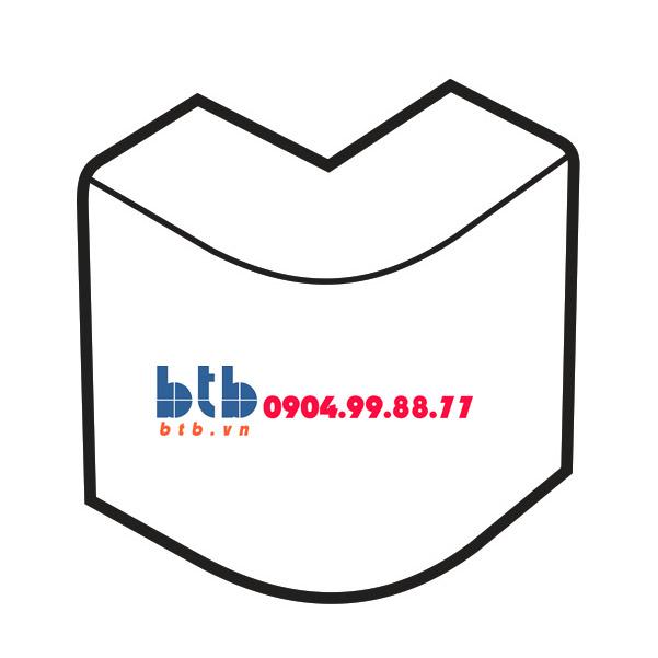Sino Cút chữ L dẹt góc ngoài 100×40