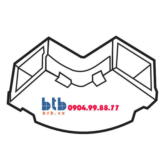 Sino Cút chữ L dẹt góc tròn 60×22