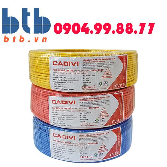 Cadivi Dây điện dân dụng Vcmd-2×1.5-(2×30/0.25)-0.6/1kv