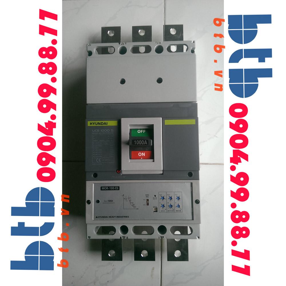 Hyundai Aptomat 3P 1000A 100kA Chỉnh dòng ( 0.5-1)