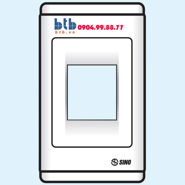 Sino S68 Mặt nhựa chứa 1 MCCB kiểu B
