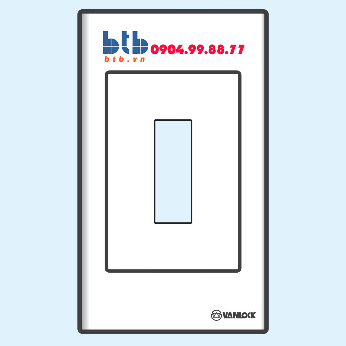 Sino S18C Mặt nhựa chứa 1 MCCB kiểu A và B