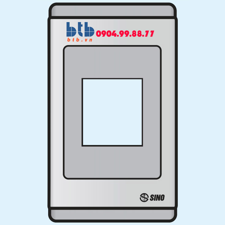 Sino S68G Mặt nhựa chứa 1 MCCB kiểu A