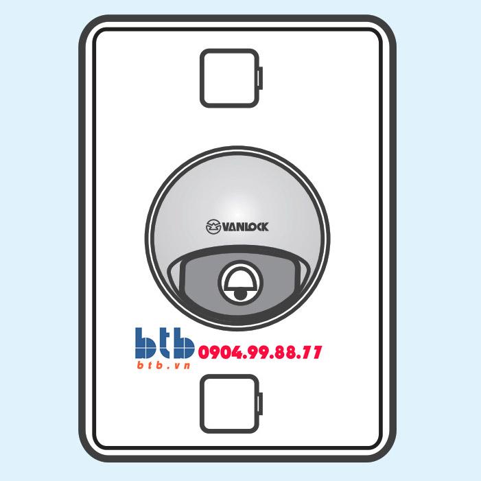 Sino S18 Nút chuông chống thấm + đèn báo loại dọc