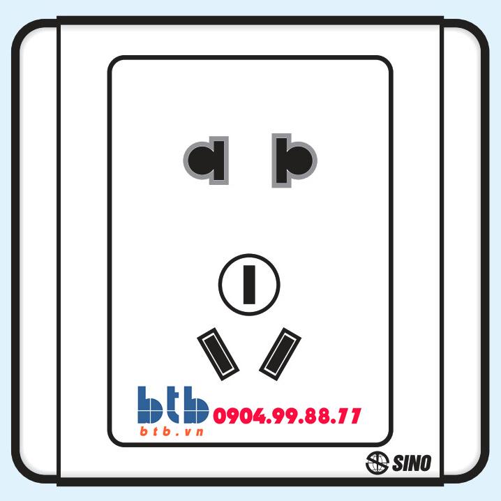 Sino S66E Ổ cắm 2 chấu + 1 ổ 3 chấu