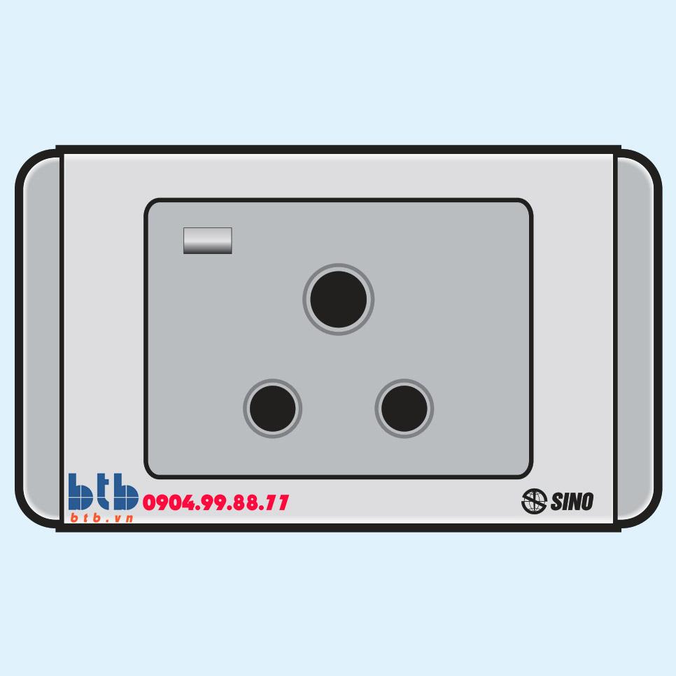 Sino S68G Ổ cắm 3 chấu tròn có đèn báo