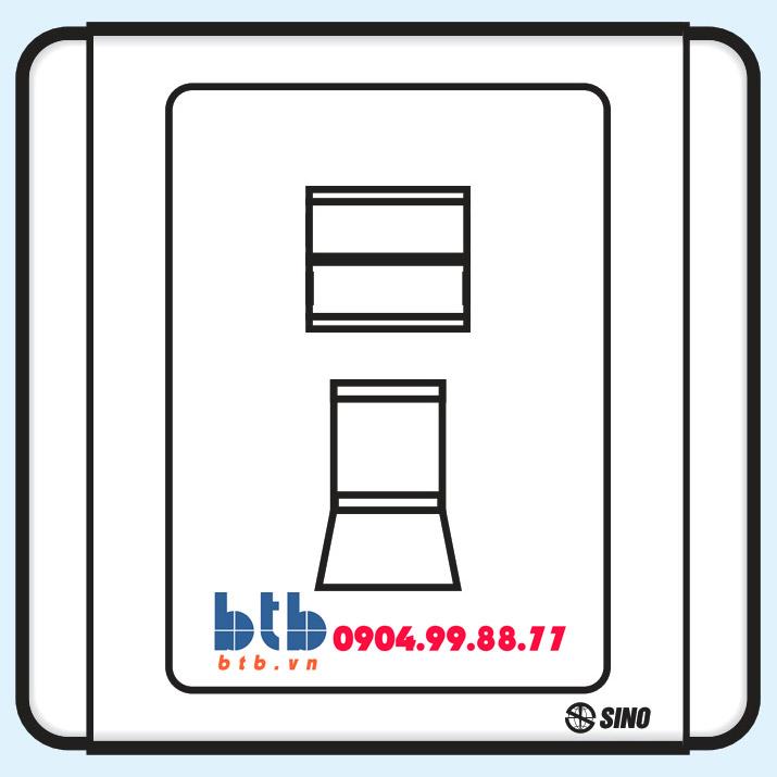 Sino S66 Ổ cắm điện thoại 4 dây có nắp che loại đơn
