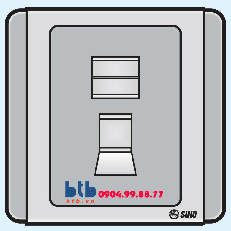Sino S66G Ổ cắm điện thoại 4 dây có nắp che loại đơn