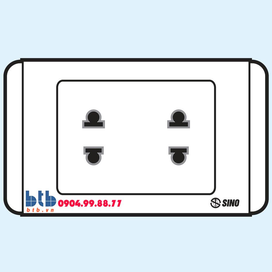 Sino S68 Ổ cắm đôi 2 chấu