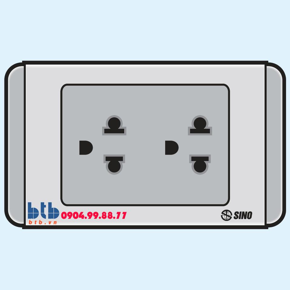 Sino S68G Ổ cắm đôi 3 chấu