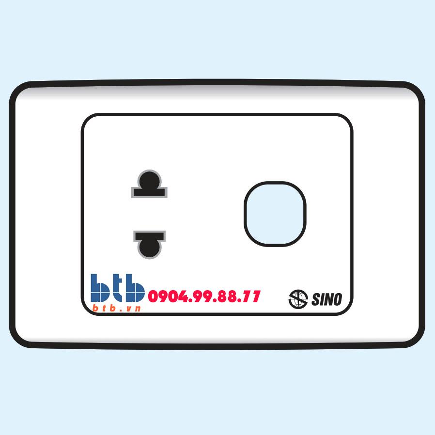 Sino S9M Ổ cắm đơn 2 chấu + 1 lỗ