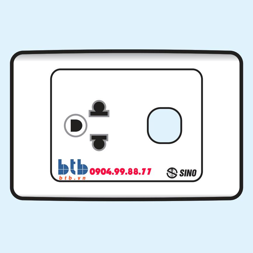 Sino S9 Ổ cắm đơn 3 chấu + 1 lỗ