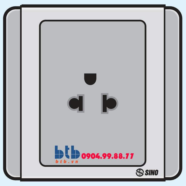 Sino S66G Ổ cắm đơn 3 chấu
