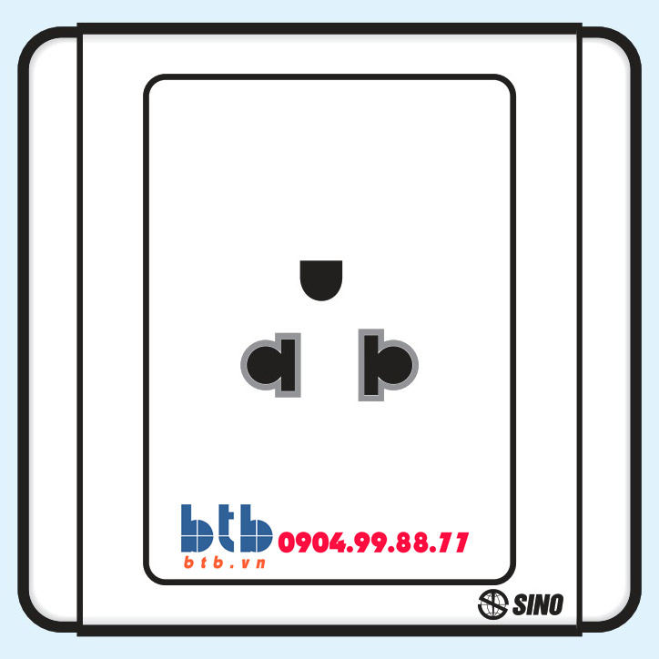 Sino S66 Ổ cắm đơn 3 chấu