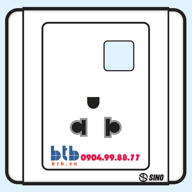 Sino S66 Ổ cắm đơn 3 chấu + 1 lỗ