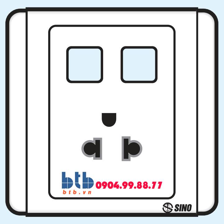Sino S66 Ổ cắm đơn 3 chấu + 2 lỗ
