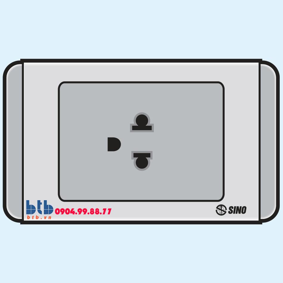 Sino S68G Ổ cắm đơn 3 chấu