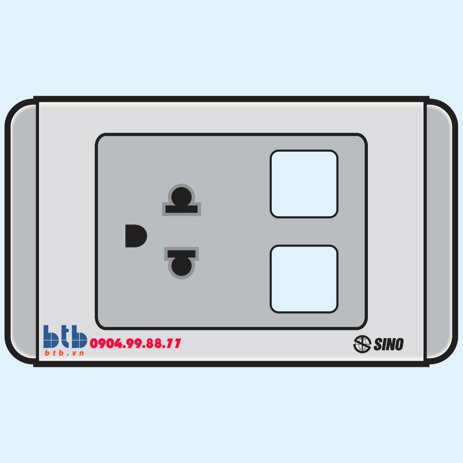Sino S68G Ổ cắm đơn 3 chấu + 2 lỗ