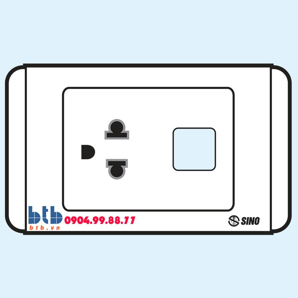 Sino S68 Ổ cắm đơn 3 chấu + 1 lỗ