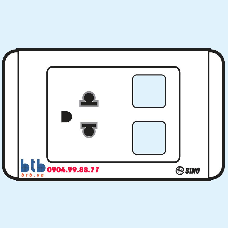 Sino S68 Ổ cắm đơn 3 chấu + 2 lỗ
