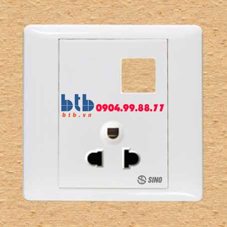 Sino S986 Ổ cắm đơn 3 chấu + 1 lỗ