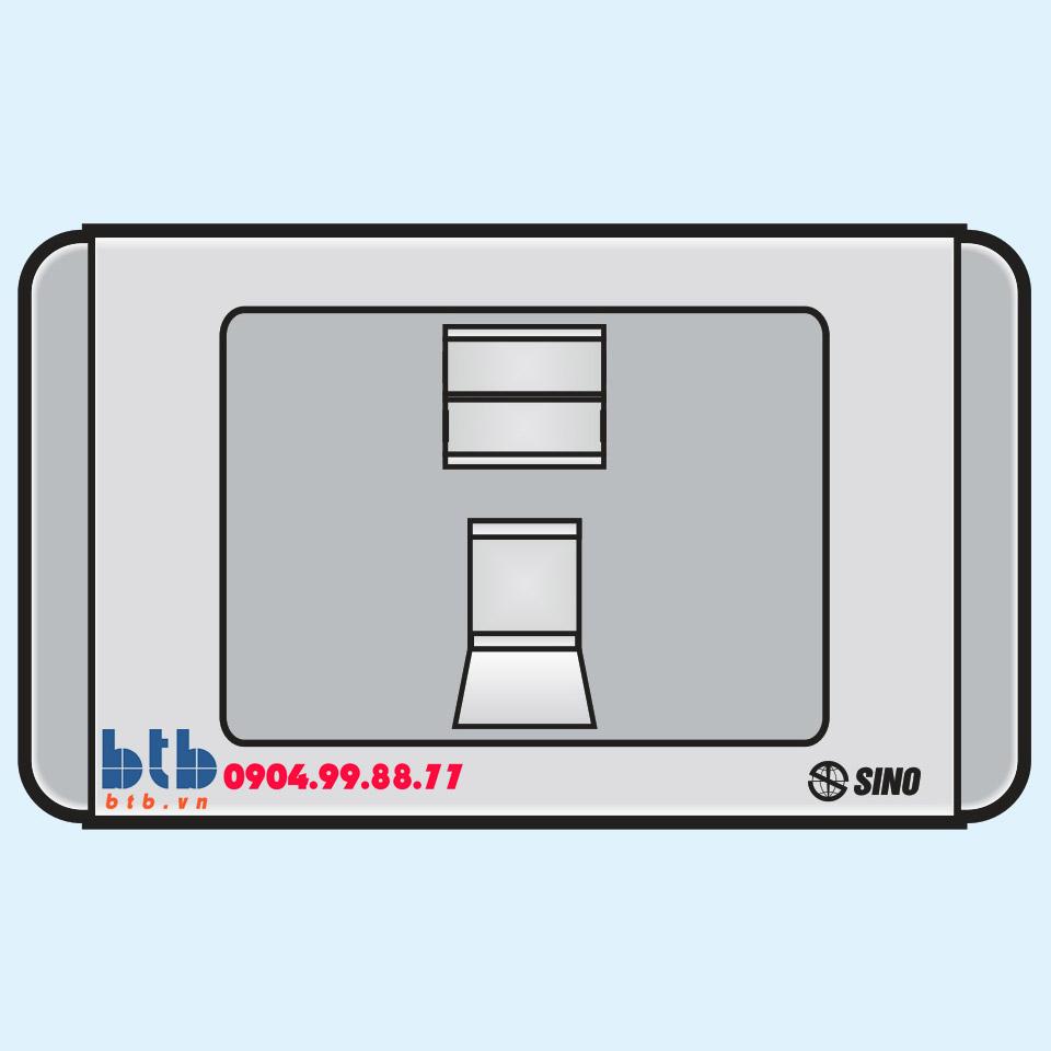 Sino S68G Ổ cắm máy tính 8 dây có nắp che loại đơn