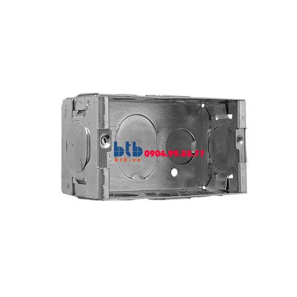 Schneider – Đế âm đơn kim loại 101x51x51mm