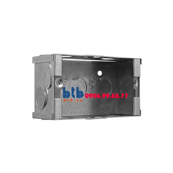 Schneider – Đế âm đơn kim loại 101x51x38mm