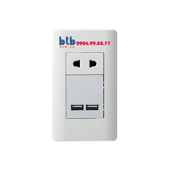 Schneider – Ổ sạc USB 2.1A đơn size S màu trắng