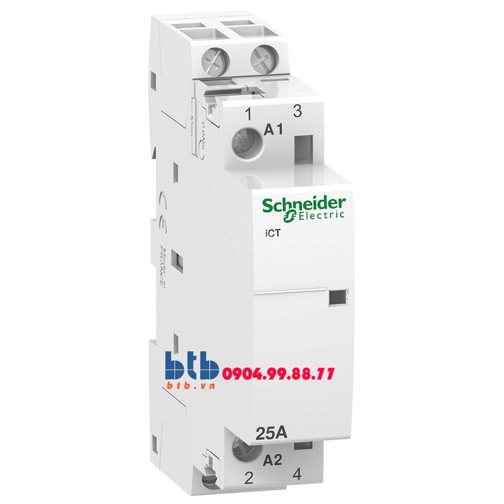Schneider – Contactor iCT,2P, điện áp cuộn dây 24VAC 2NO 25A