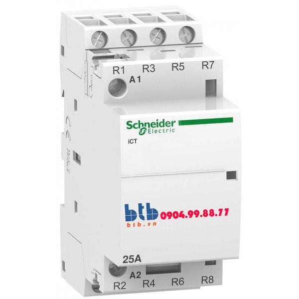 Schneider – Contactor iCT,4P, điện áp cuộn dây 24VAC 4NC 25A
