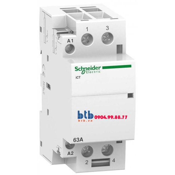 Schneider – Contactor iCT,2P, điện áp cuộn dây 24VAC 2NO 63A