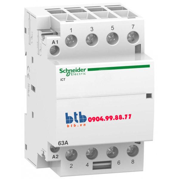 Schneider – Contactor iCT,4P, điện áp cuộn dây 24VAC 4NO 63A