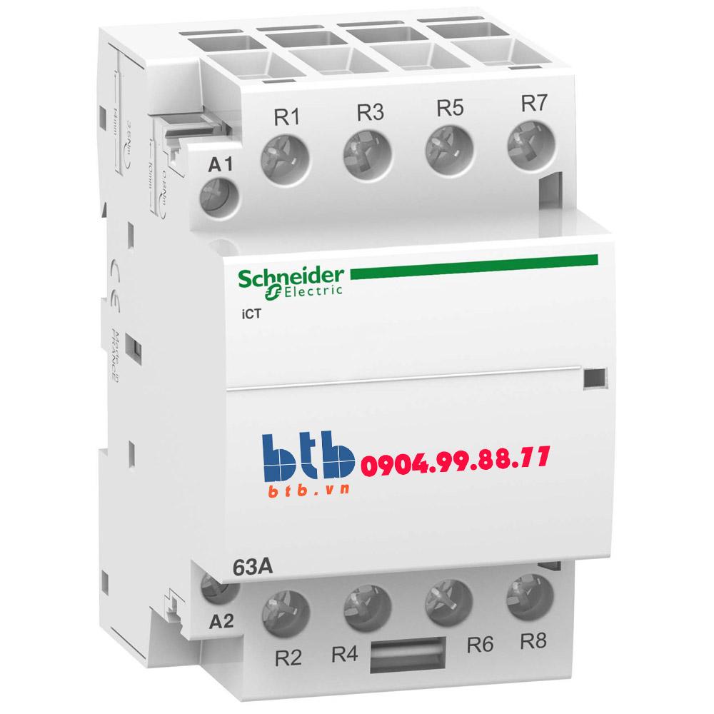 Schneider – Contactor iCT,4P, điện áp cuộn dây 24VAC 4NC 63A