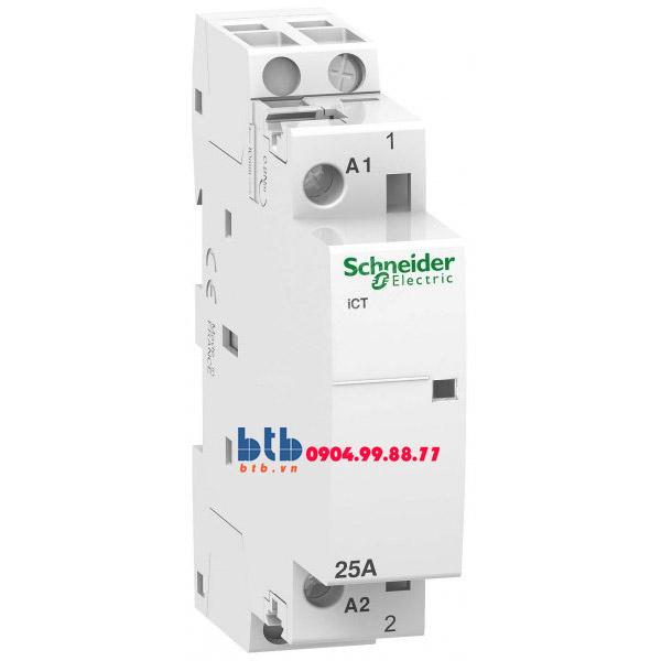 Schneider – Contactor iCT,1P, điện áp cuộn dây 230/240VAC 1NO 25A