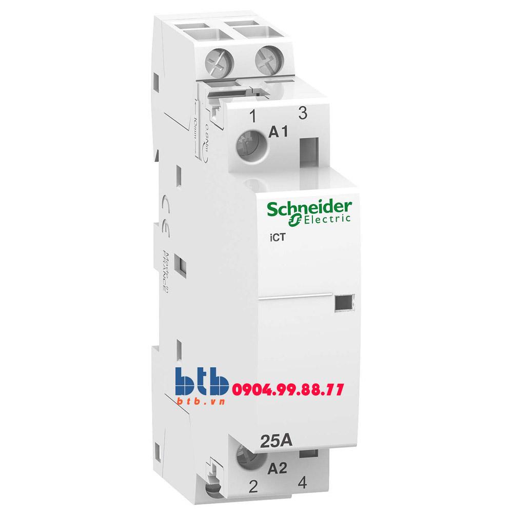 Schneider – Contactor iCT,2P, điện áp cuộn dây 230/240VAC 2NO 25A