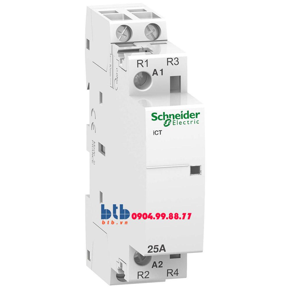 Schneider – Contactor iCT,2P, điện áp cuộn dây 230/240VAC 2NC 25A